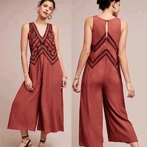 NWT Anthropologie Maeve Embroidered Jumpsuit 2